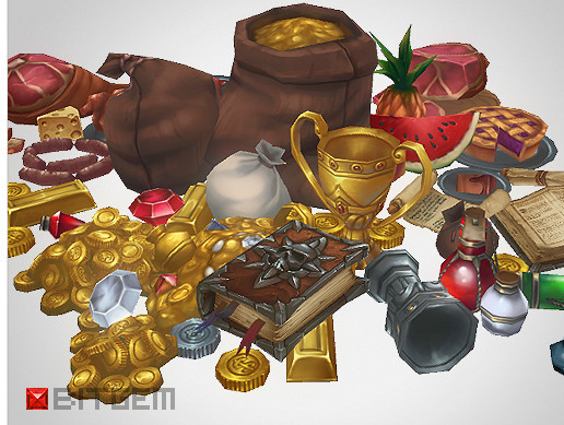 Low Poly Loot Set 100+ Objects