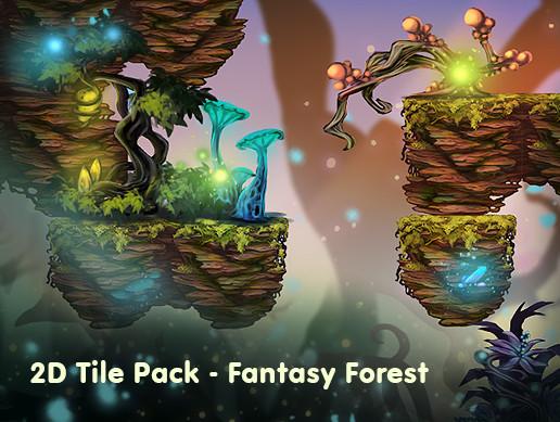 2D Tile Pack - Fantasy Forest