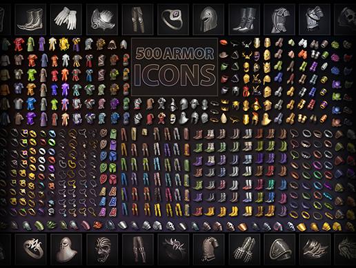 500 Armor Icons