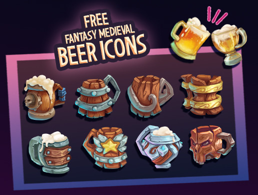 Fantasy Medieval Beer Icons
