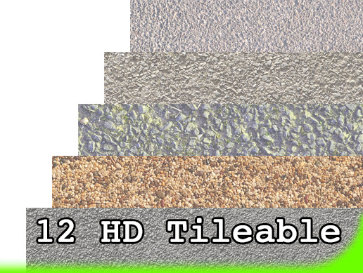 12 HD Asphalt Gravel Ground Textures Pack