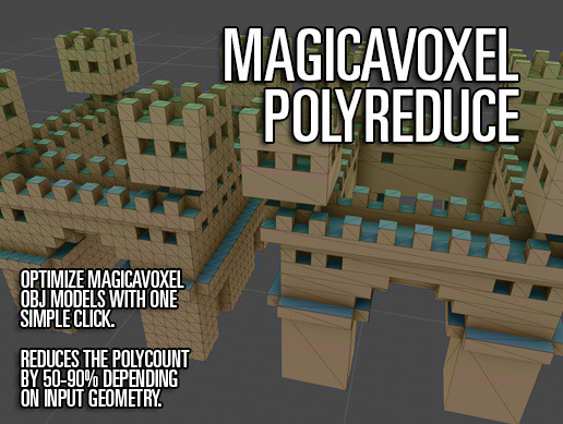 MagicaVoxel PolyReduce - Asset Store