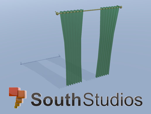 LowPoly Curtain A01