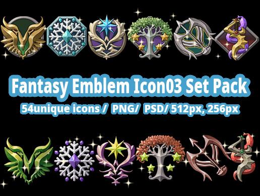 Fantasy Emblem Icon03 Set Pack