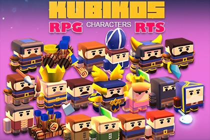 KUBIKOS - RPG / RTS 20 Animated Cube Mini Units