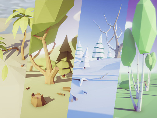Low Poly Trees - Pack - Asset Store