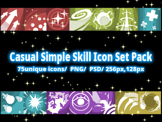 Casual Simple Skill Icon01 Set Pack