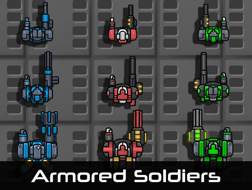 Armored Soldiers 2D (Top-Down)