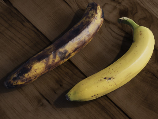 4k Scanned Bananas