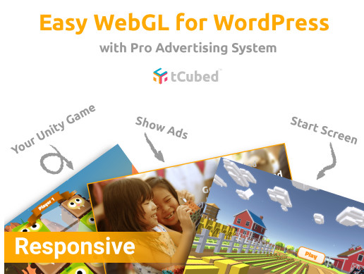 Easy WebGL WordPress Plugin with Pro Advertising System