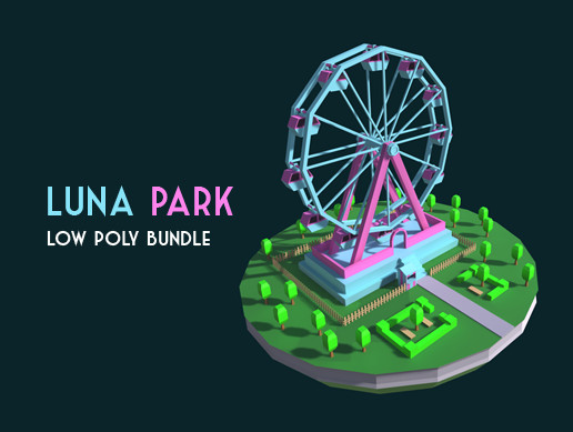 Luna Park Low Poly Package