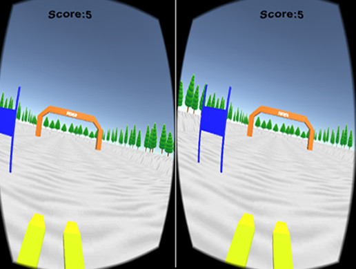 VR ski for cardboard and googleVR