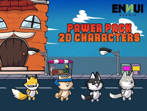 Pawer Pack 2d characters – Dogs
