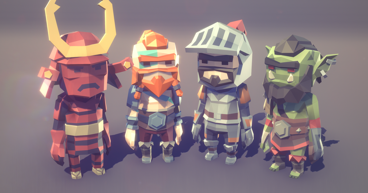 POLYGON MINI - Fantasy Character Pack