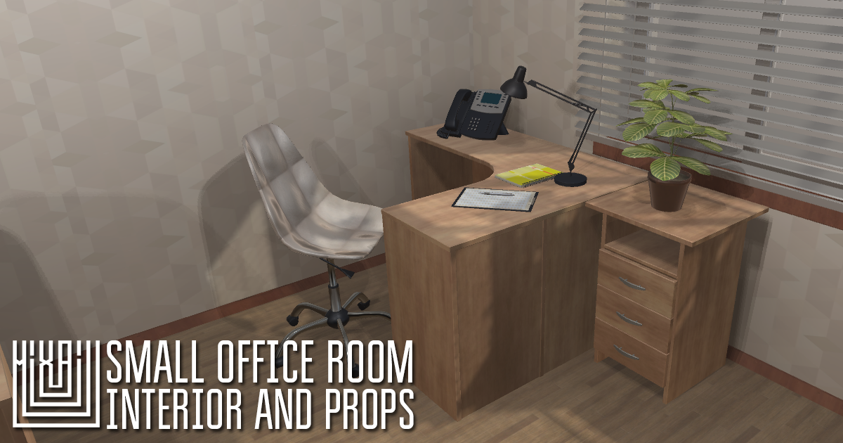 Small office room - interior and props