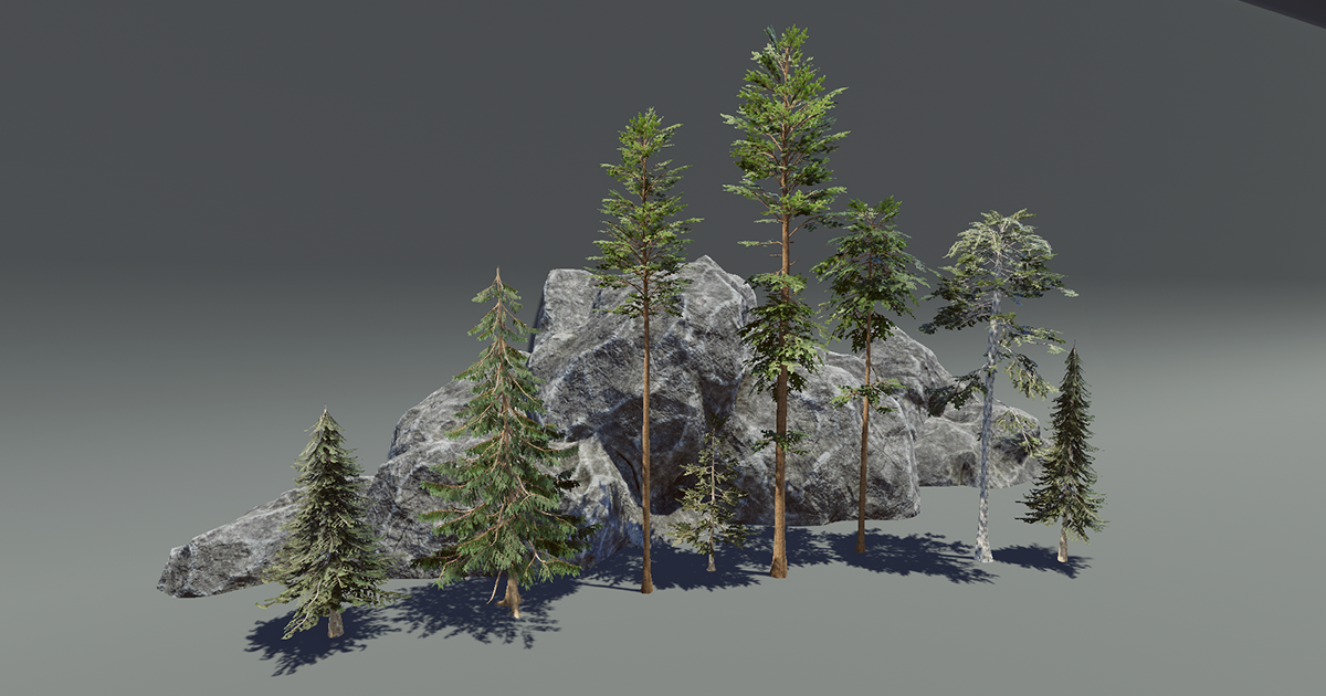 Pine Trees Vegetation Pack
