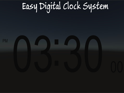 Easy Digital Clock System