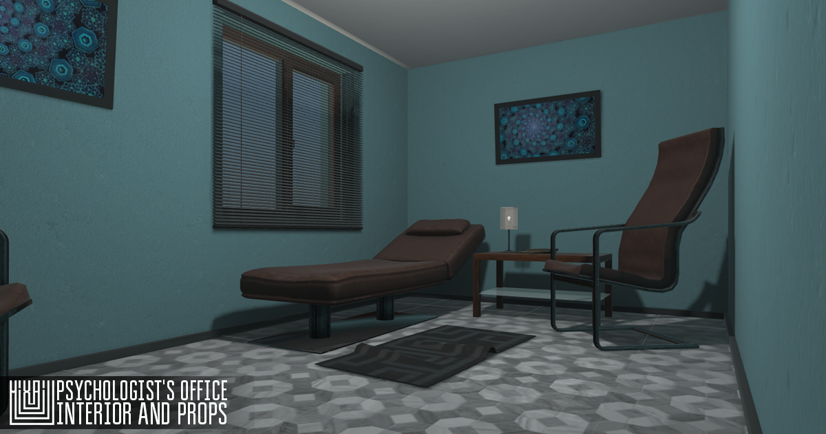 Psychologist's office - interior and props