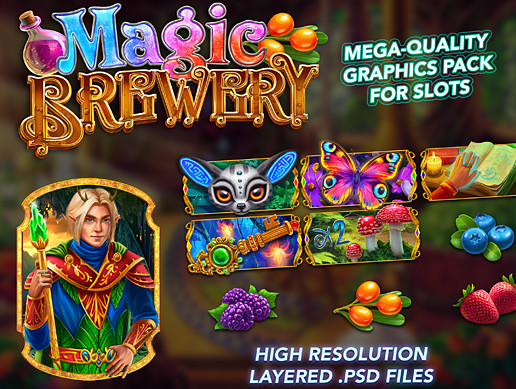 Slots Level: Magic Brewery (PSD graphics)
