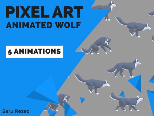 Pixel Art: Animated Wolf