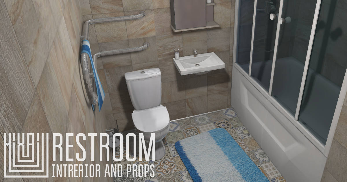 Restroom - intrerior and props