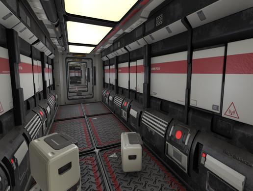 Heavy Industry Modular Sci-Fi Corridor