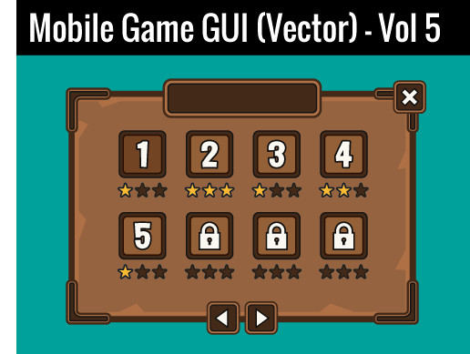 Mobile Game GUI (Vector) - Vol 5