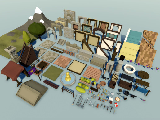Fantasy Town Low Poly Pack