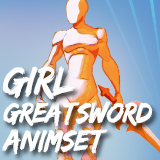 Girl GreatSword AnimSet