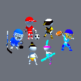 Hyper Casual Characters Stickman sphere head skins vol .1 sports