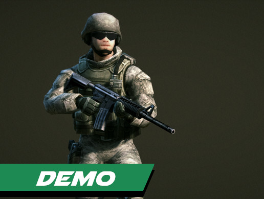 Low Poly Soldiers Demo