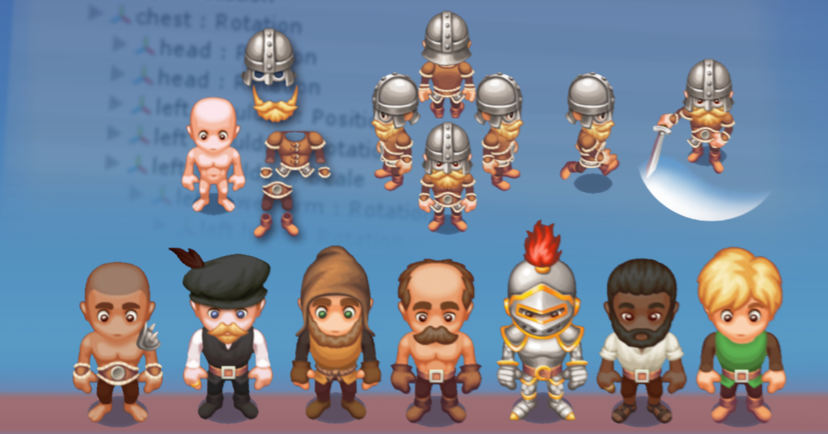 2D Customizable Character - Male