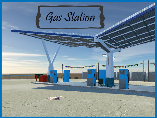 Countryside gas station