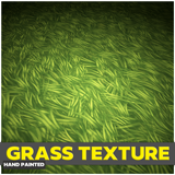 Hand Painted Grass Texture