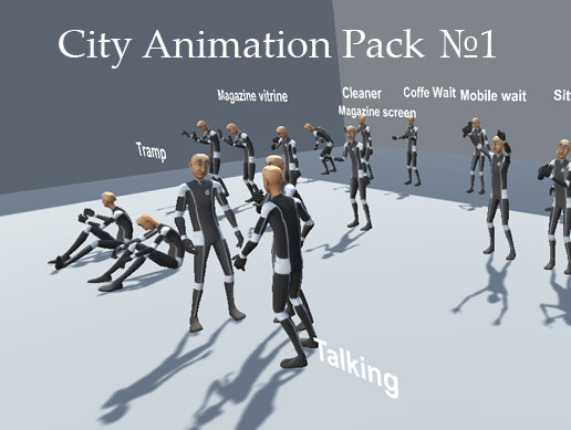 City Animation of People - Pack 1 for Unity3d