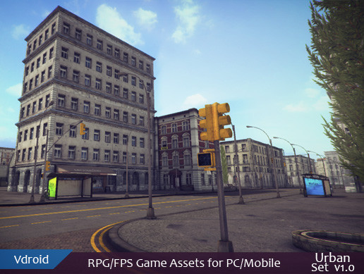 RPG/FPS Game Assets for PC/Mobile (Urban Set v1.0)