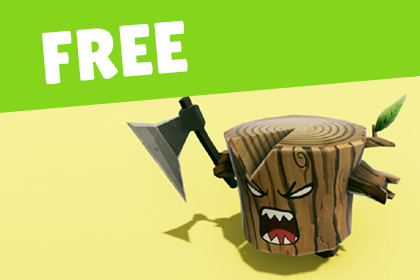 FREE - Animated Angry Log - Revenge of the Tree