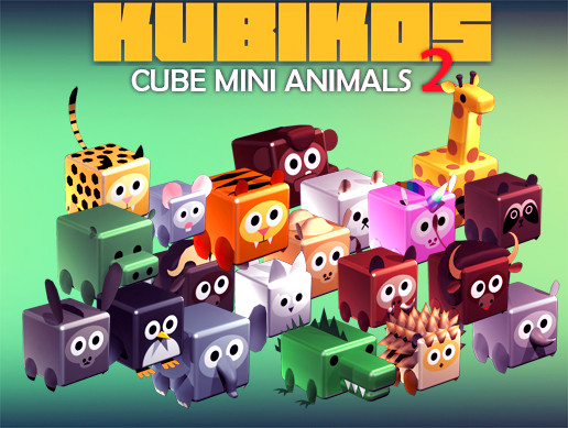 KUBIKOS - Animated Cube Mini Animals 2