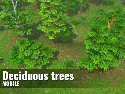 Deciduous trees — Hand-painted