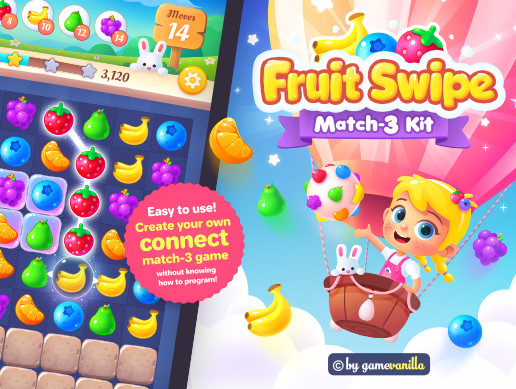 Fruit Swipe Match 3 Kit - Asset Store