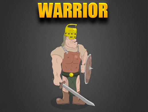 Human Hero - Warrior 2D