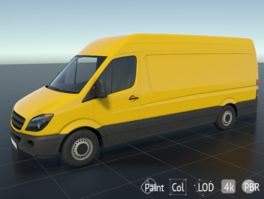 Low-poly Van