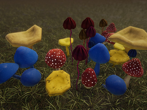 (Low Poly) Mushrooms Pack