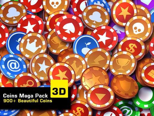 Coins Mega Pack 3D