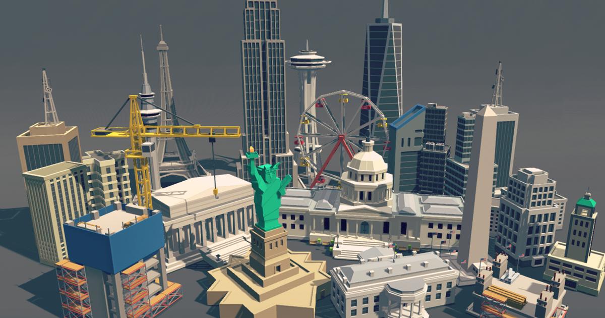 Simple City - Cartoon assets
