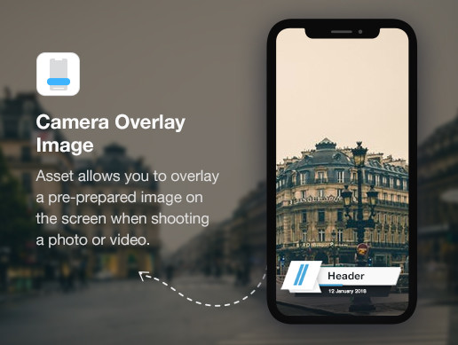 Camera Overlay Image (iOS, Android) - Asset Store