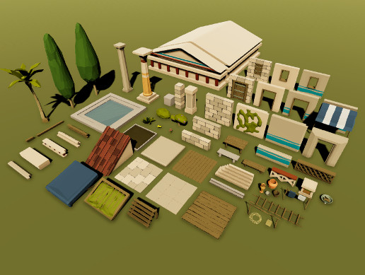 Greek Low Poly Pack
