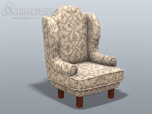 Low Poly Chair 01