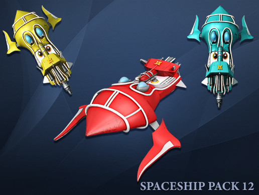 3D Spaceship Pack Vol 12