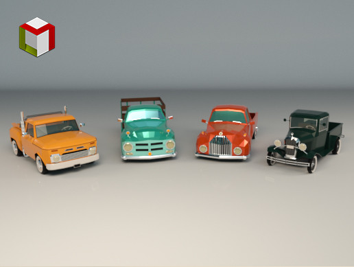 Low Poly Pickup Pack 01